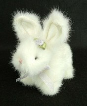 The Boyds Collection Easter Bunny White Purple Rose Accent Poseable Ears - $14.84