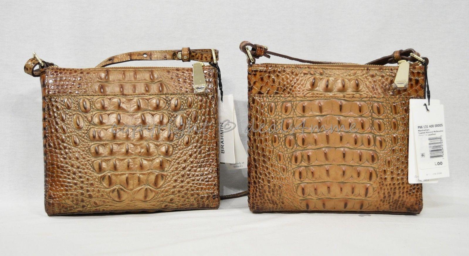 NWT Brahmin Manhattan Leather Shoulder/Crossbody Bag in Toasted Almond Melbourne image 12