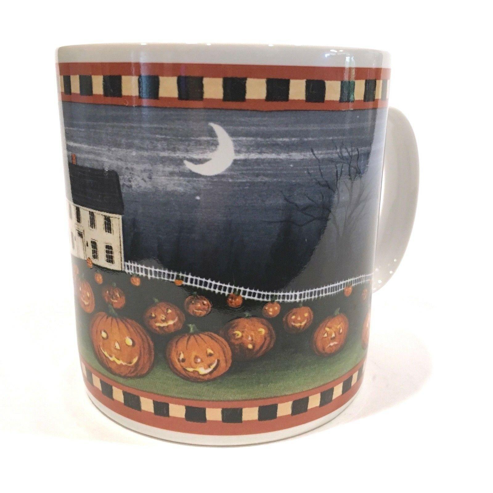 Pumpkin Hollow David Carter Brown Halloween Coffee Mug Cup Sakura - $24.99