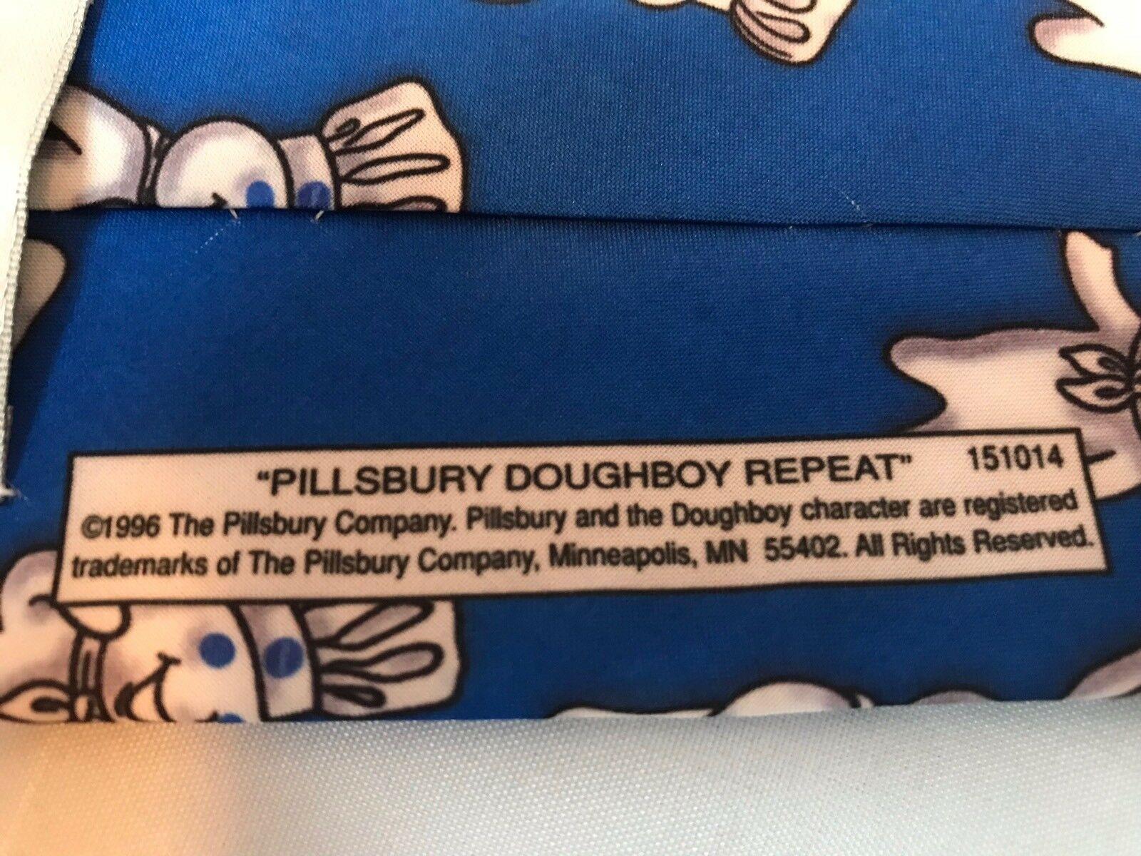 Pillsbury Dough Boy Repeat Ralph Marlin Blue Classic Men's Neck Tie 1996 image 4