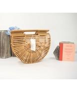 Cult Gaia Gaia's Arc Mini Bamboo Wood Clutch Bag NWT - $182.66