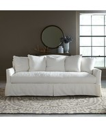 French Country Chic Down Blend Slipcovered White Sofa,90''L x 38''H. - $1,282.05