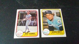1981 Fleer Mike Schmidt and George Brett - $2.49