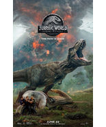 JURASSIC WORLD FALLEN KINGDOM MOVIE POSTER 2 Sided ORIGINAL June 22  27x40  - $49.00