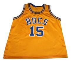 Vince Carter #15 Mainland Bucs New Men Basketball Jersey Yellow Any Size image 3