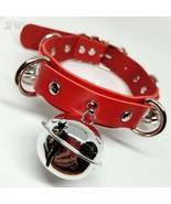 DWL Silver Pet Bells BDSM Collar in Red - $17.99