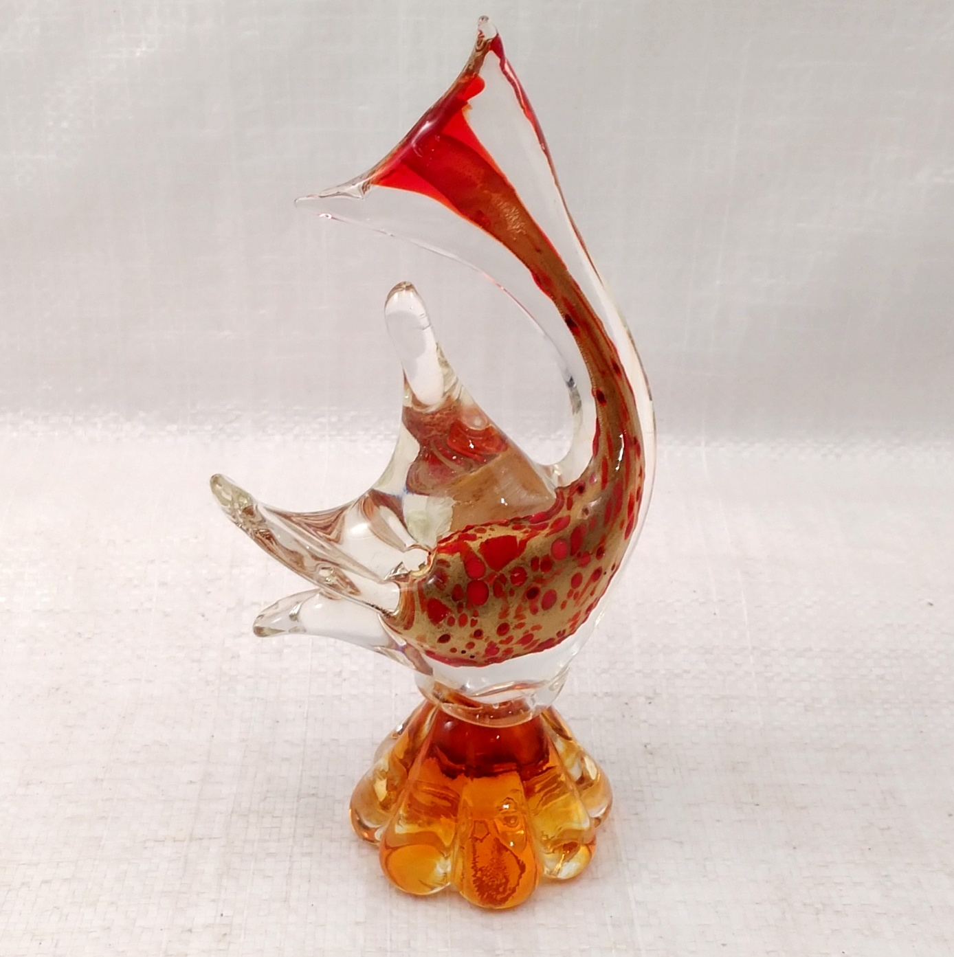 Primary image for Vintage J.I. CO. HANDMADE VENETIAN GLASS FISH w/ Gondola Label