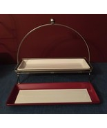 Pampered Chef Simple Additions Rectangle Serving Tray Stand Two Plates - $29.95