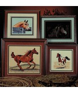 Cross Stitch Palomino Pinto Arabian Bay Black Love Of Horses Pattern - $11.99