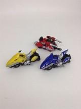 Bandai 2003 Power Rangers Dino Thunder Mini Motorcycles LOT Diecast Yell... - $16.78