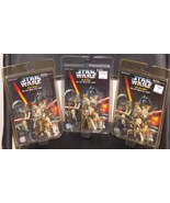 1996 Star Wars 3 Die Cast Metal Key Chains New ... - $19.99