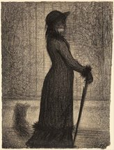 The Museum Outlet - Seurat - Woman strolling, S... - $147.51