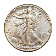 1941 P Walking Liberty Half Dollar - Choice BU / MS / UNC - $34.00