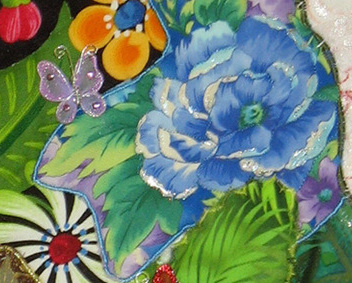 Flamboyant Flowers: Quilted Art Wall Hanging
