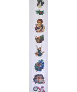 "CHRISTMAS RIBBON VINTAGE IMAGES EIGHT FEET LONG  2 1/2"" wide - $6.95"