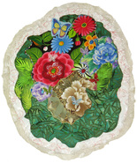 Flamboyant Flowers: Quilted Art Wall Hanging - $325.00