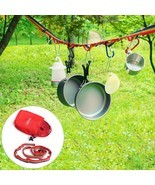 Outdoor Camping Colorful Long Lanyard Clothesline Tent Decoration Lights... - £8.29 GBP
