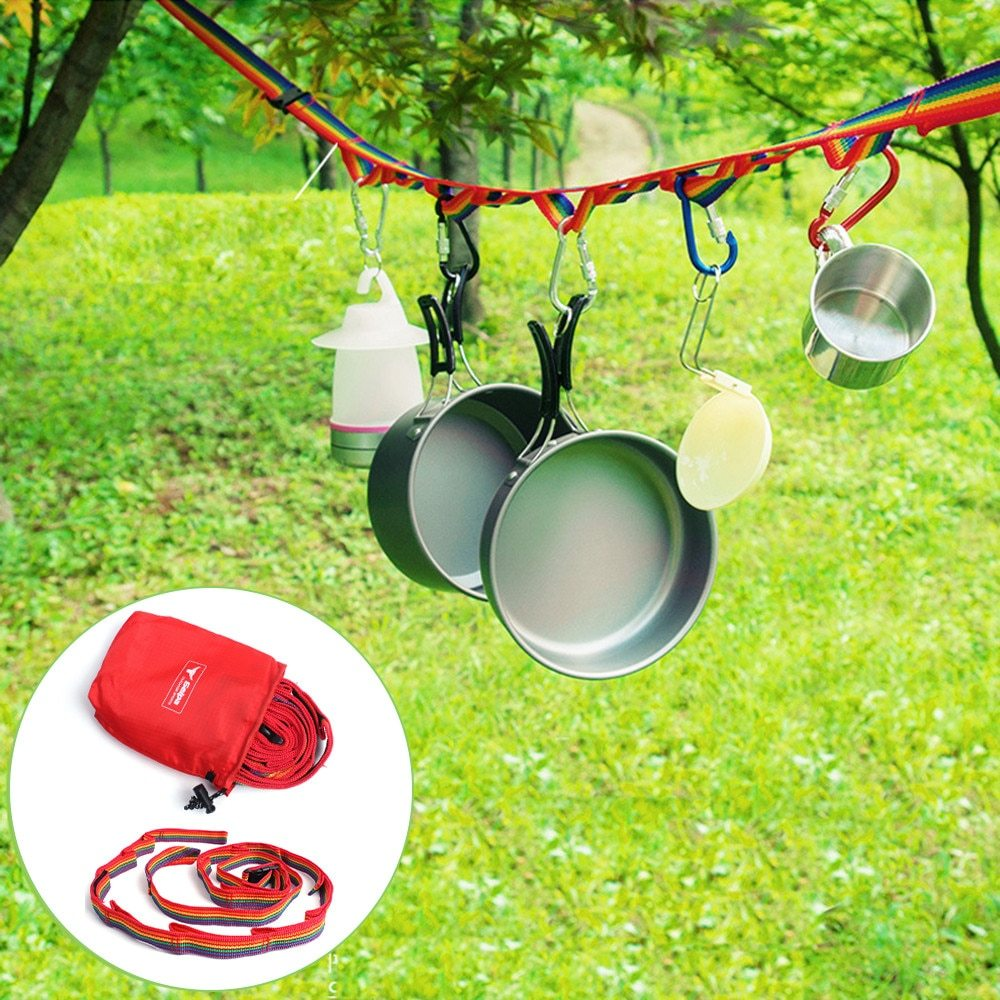 Primary image for Outdoor Camping Colorful Long Lanyard Clothesline Tent Decoration Lights Lanyard