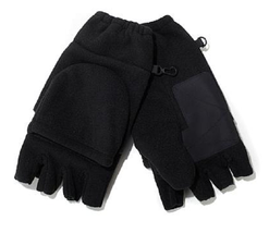 Polarex Hot Headz Fleece Glomitts, Black - $262,90 MXN