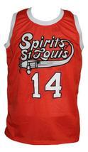 Freddie Lewis #14 Spirits of St Louis Aba Basketball Jersey New Orange Any Size image 4