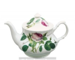 Roy Kirkham Redoute Rose Baroque Teapot FINE BONE CHINA MADE IN ENGLAND 32OZ NEW