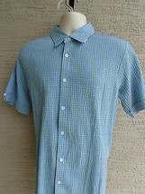 NWT $50 msrp SADDLEBRED X Large S/S STRETCH CRINKLE TEXTURED  CHECKED SH... - $14.95