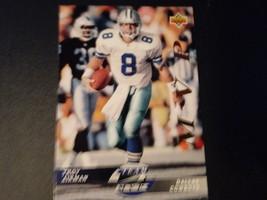 Troy Aikman Team MVP Upper Deck Foot Ball Trading Card, NFL 1990 # TM11 - $2.00
