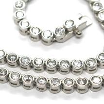 Necklace Tennis Silver 925, Zircon Cubic 4MM, 42CM, Mount Round image 2