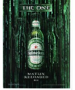 Heineken The One Matrix Reloaded Full Page Original Color Print Ad Very ... - $7.69