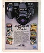 Minolta Nothing Escapes The Eye Of Maxxum. Full Page Color Print Ad Near... - $5.99