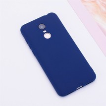 Color Matte Phone Cases For Xiaomi Redmi / Case Silicone (Dark Blue) - $14.99