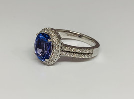 925 Sterling Silver Genuine Fine Quality Blue Sapphire And Cz Gemstone Handcraft image 4