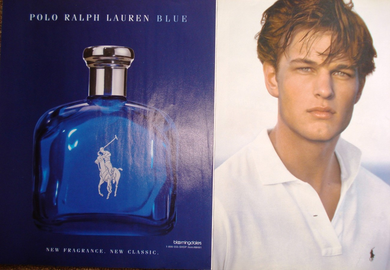 "Primary image for RALPH LAUREN ""Polo"" Men's Fragrance Two Magazine Ads Cologne Blue Near Mint"