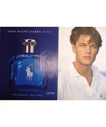 "RALPH LAUREN ""Polo"" Men's Fragrance Two Magazine Ads Cologne Blue Near Mint - $4.99"