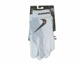 Nike Force Edge Batting Gloves Men's Small Game White Baseball Batting Leather - $32.66