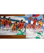 Salem Spirit 2 Full  Pages of Original Color Print Ads from The 1980's N... - $3.99