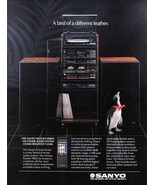 Sanyo Full Page Color Print Ad A bird of a different feather 1980's Orig... - $3.50