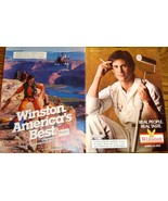 Winston 2 Pages of Color Print Ads From The 1980's Real People Real Tast... - $5.99