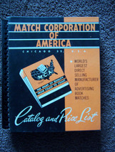 Vintage 1956 Match Corporation Of America Chicago 32 Catalog & Price List - $120.00