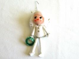 Vintage Kurt S Adler 1973 Felt White Angel Pixie Elf Wings Christmas Orn... - $14.99
