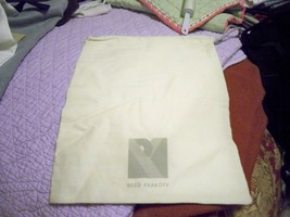 Designer Sleeper/ Dust Bag Reed Krakoff Tan with Gray Logo - $6.99