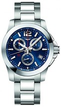 Longines L37004966 Conquest Mens Watch - Blue Dial - $1,098.85