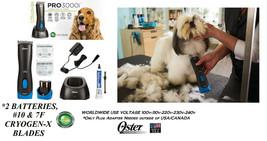 Oster PRO 3000i Cordless CLIPPER SET,10&7F BLADE&2 BATTERY Li Ion Rechar... - $561.75