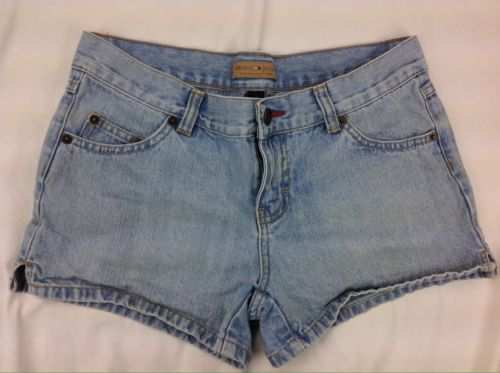 "Primary image for Tommy Hillfiger Jeans Womens Size 3 Denim Jean Short Shorts Flat Front 30"" Waist"