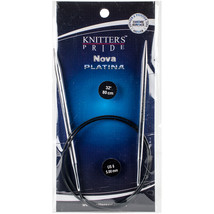 "Knitter's Pride-Nova Platina Fixed Circular Needles 32""-Size 8/5mm - $10.68"