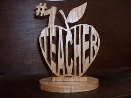 Number one wooden teacher display - $20.00