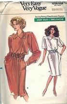 7549 Uncut Vogue Couture Motif Femmes Robe Coupe Large Droit Simili Drap... - $4.83