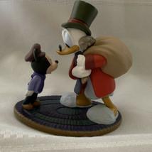 Disney Store Christmas Carol Scrooge McDuck & Mickey Tiny Tim PVC Figure... - $14.01