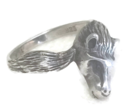 Vintage Horse Pony Sterling Silver Pinky Children Ring size 4.75 - $29.00