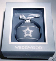 Wedgwood Star Relief Christmas Ball Ornament Blue & White New - $58.90